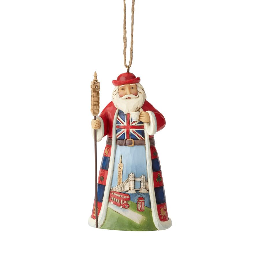 BRITISH SANTA ORNAMENT