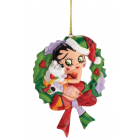 Betty Boop Ornament Christmas Wreath