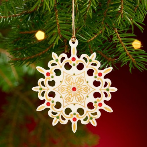 China Jewels Snowflake Ornament