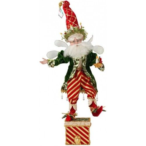 CHRISTMAS CANDLE FAIRY STOCKING HOLDER