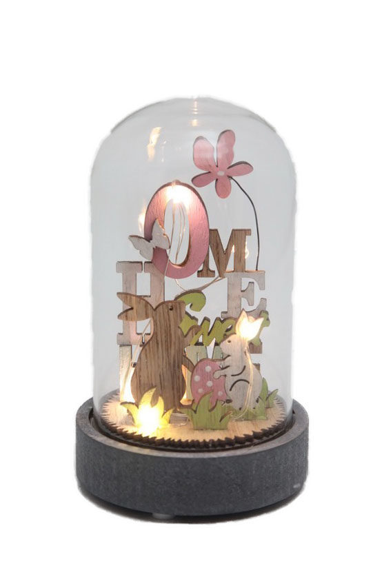 LIGHT UP GLASS DOME - HOME