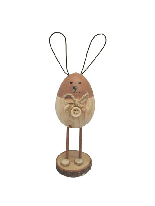WOOD BUTTON STANDING BUNNY