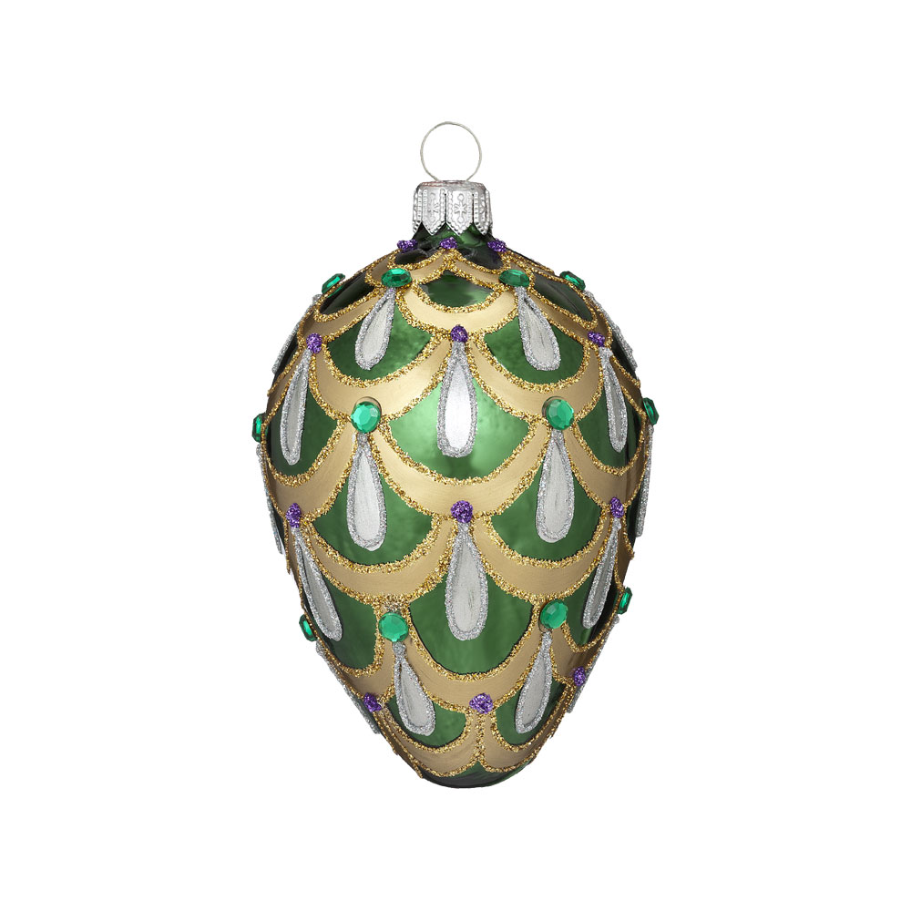 Emerald Egg Ornament