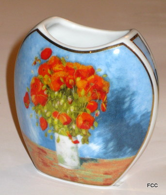 Vase with Red Poppies Mini Vase