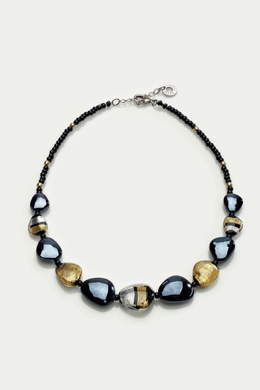 MORETTA NECKLACE BLACK/GOLD