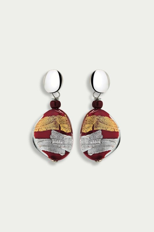 MORETTA EARRINGS RED AND GOLD
