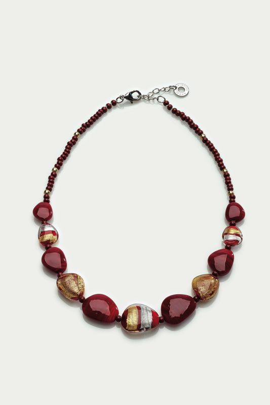 MORETTA NECKLACE RED/GOLD