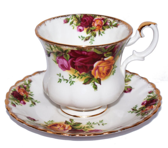 Old Country Rose Demitasse Cup and Saucer
