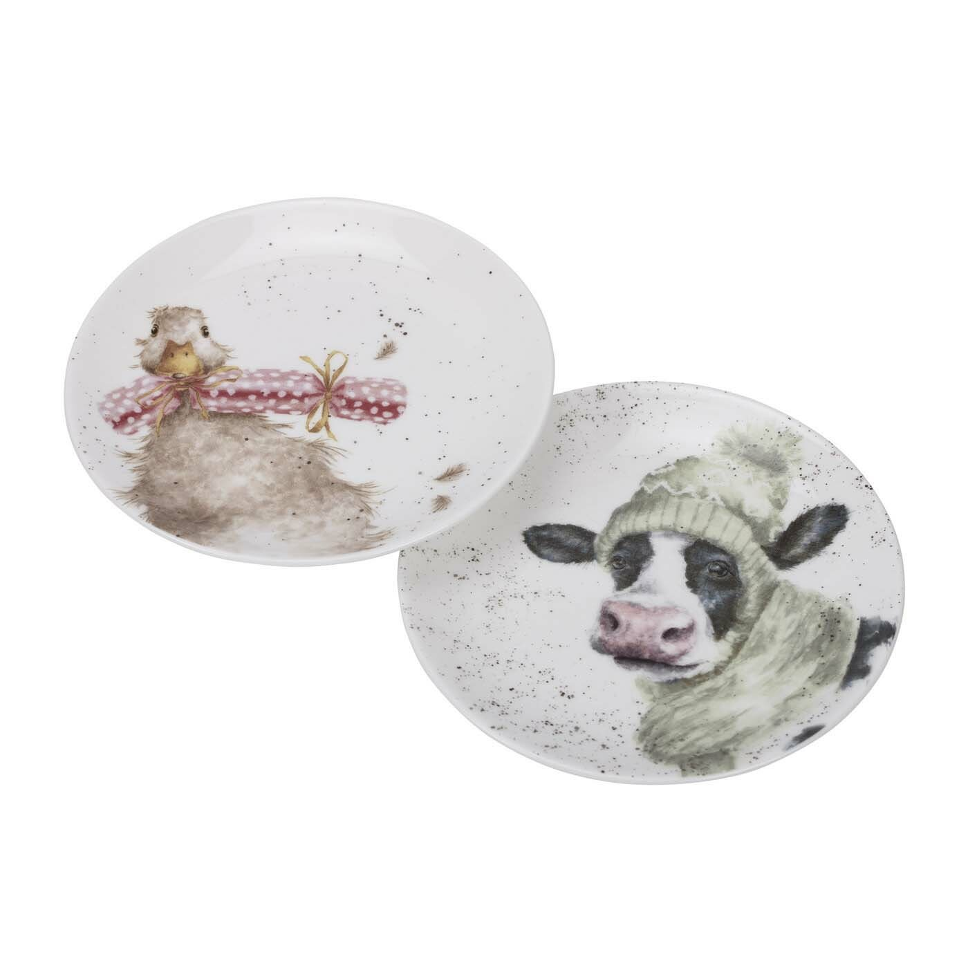 COUPE PLATE SET - COW AND DUCK