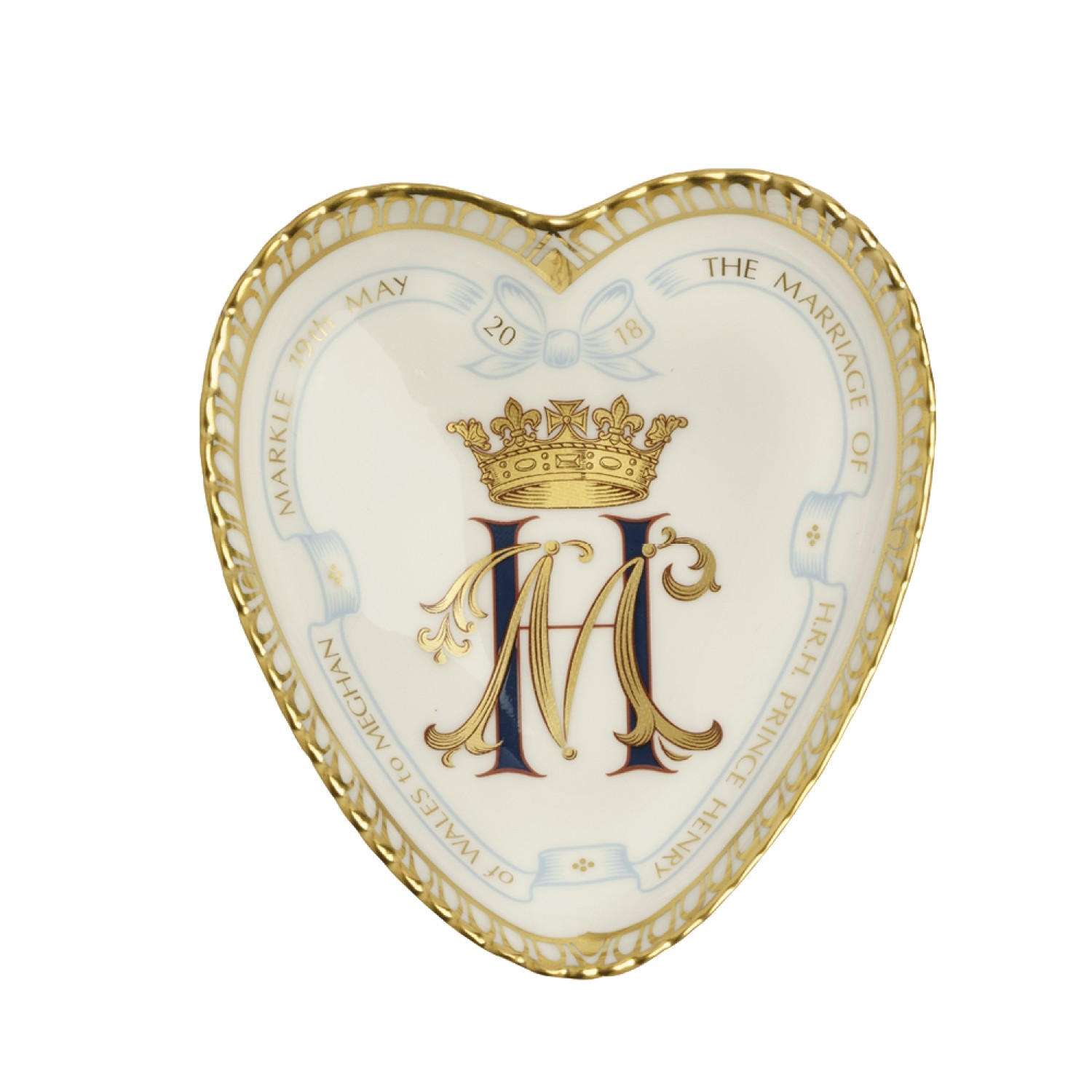 ROYAL WEDDING HEART TRAY