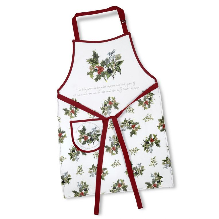 HOLLY AND IVY DRILL APRON