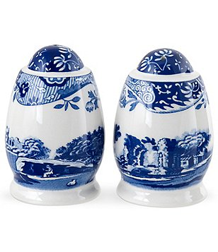 Blue Italian Salt and Pepper Shakers